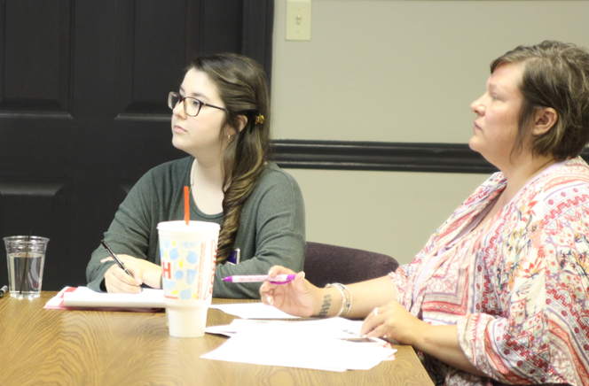 EDA AmeriCorps VISTA Camille Labatut during a meeting with East Arkansas Planning and Development District officials.