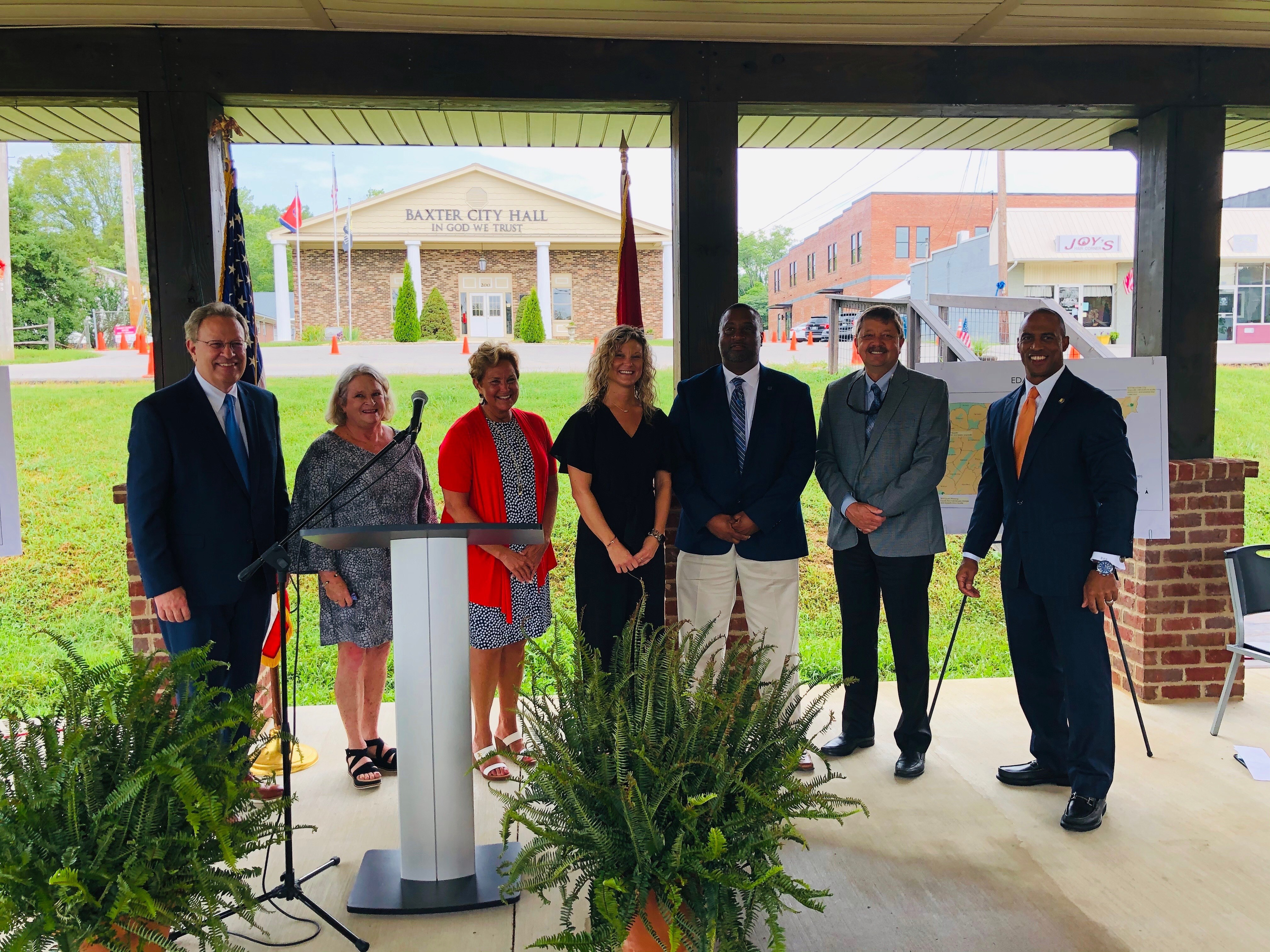EDA grant announcement in Baxter, Tennessee