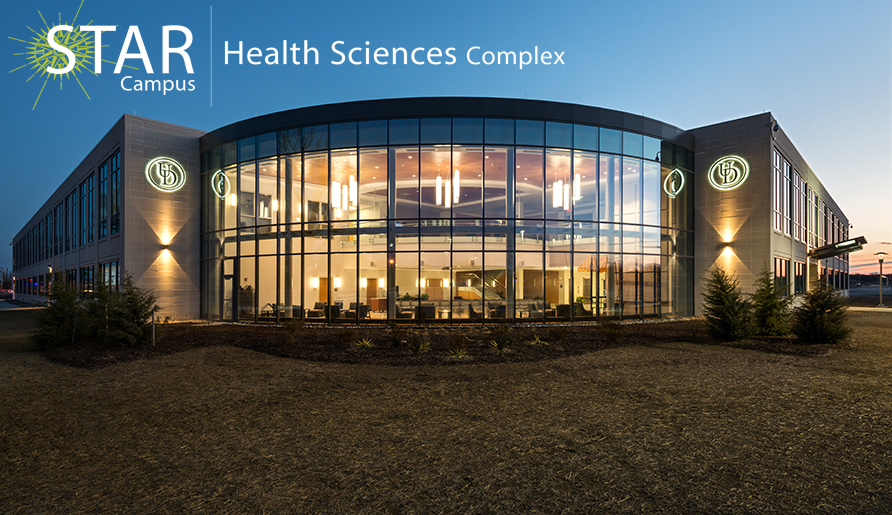 The Health Sciences Complex (HSC) located on the University of Delaware's Science, Technology, and Advanced Research (STAR) Campus