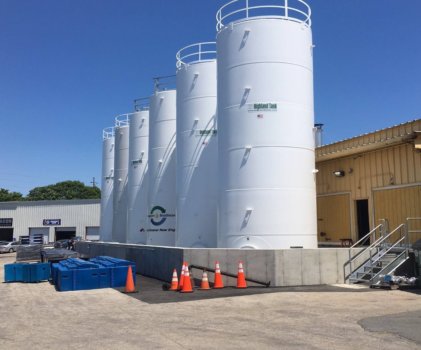 Newport Biodiesel, Inc.'s new biodiesel tanks